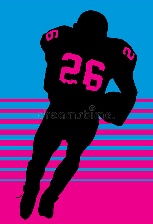 Running player rugby vector illustration