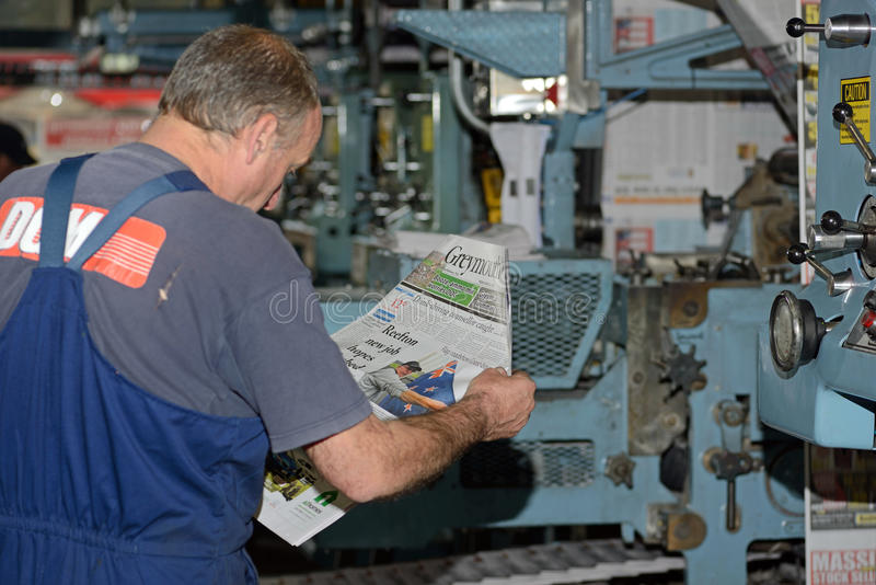 Running the press stock images