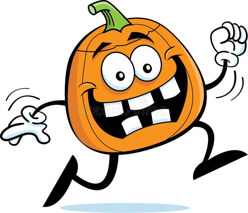 Running pumpkin stock vector image of running vector for Funny pumpkin drawings