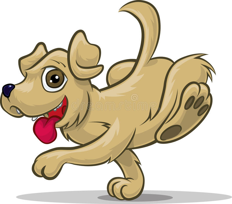 Download Running Puppy stock vector. Image of snout, ears, animal - 20055611