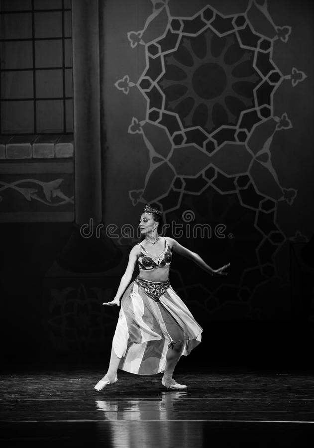 """The running of the queen- ballet """"One Thousand and One Nights"""" royalty free stock photos"""
