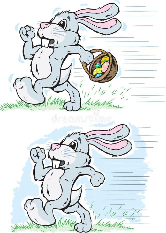 Download Running Rabbit stock vector. Illustration of cute, scared - 34808370