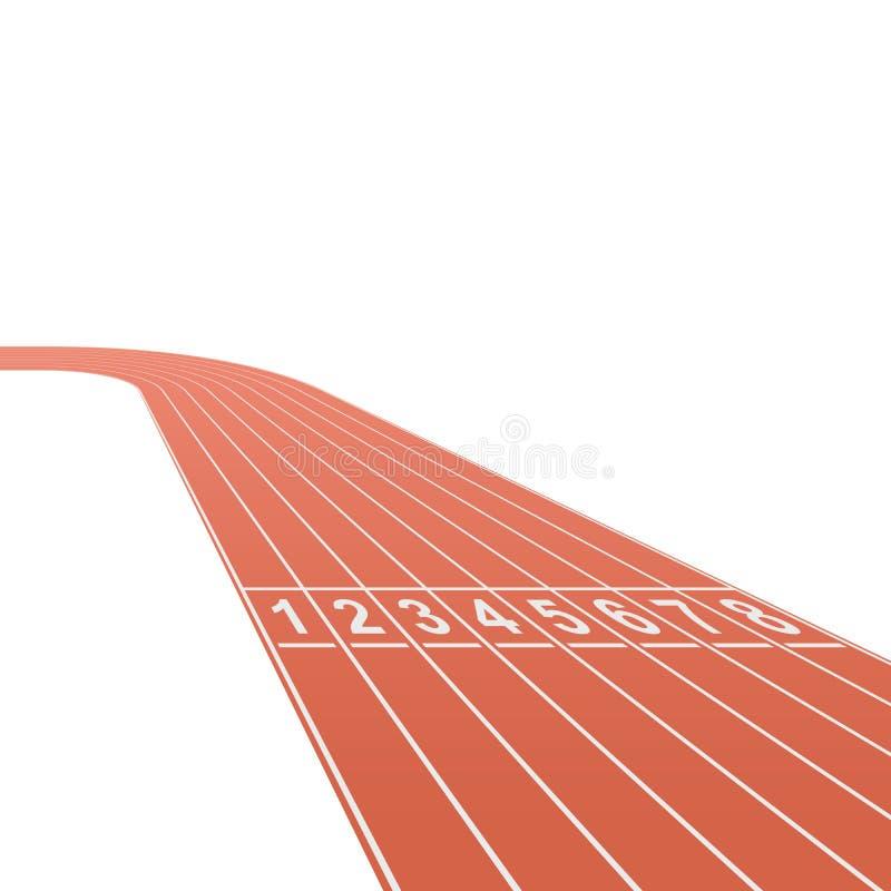 Running race track background royalty free illustration