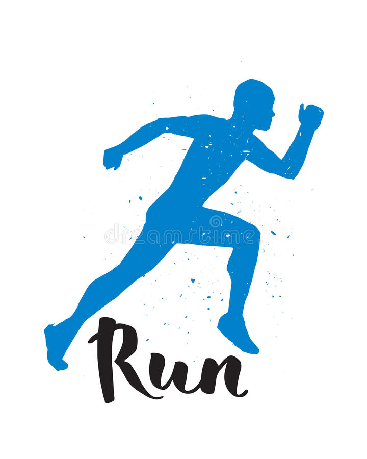 Running Runner Man Marathon Logo Jogging Emblems Label And Fitness