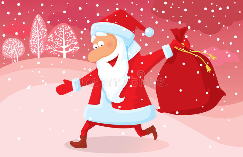 Download Running Santa stock vector. Illustration of humor, santa - 12225156