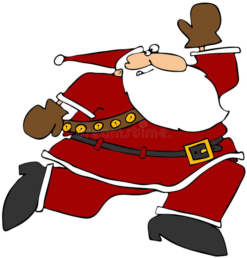 Running Santa vector illustration