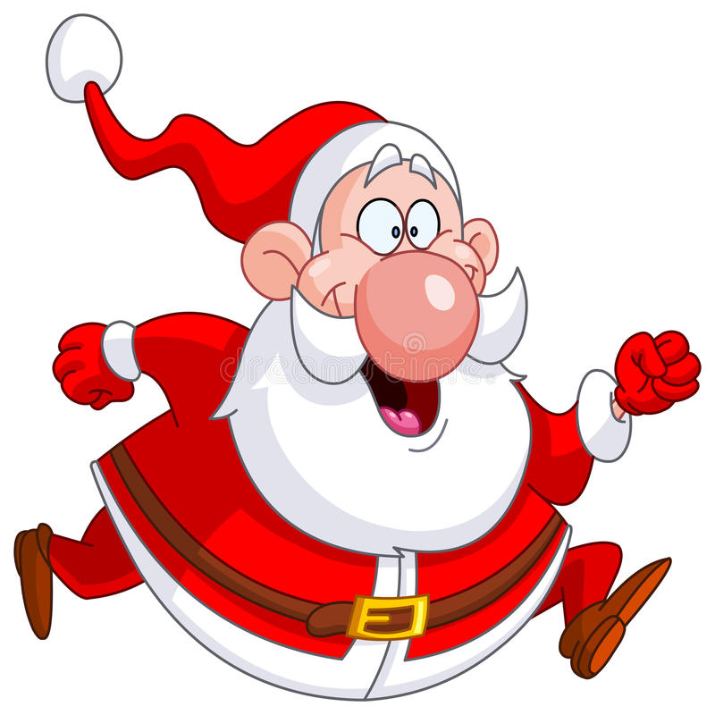 Running Santa Stock Images
