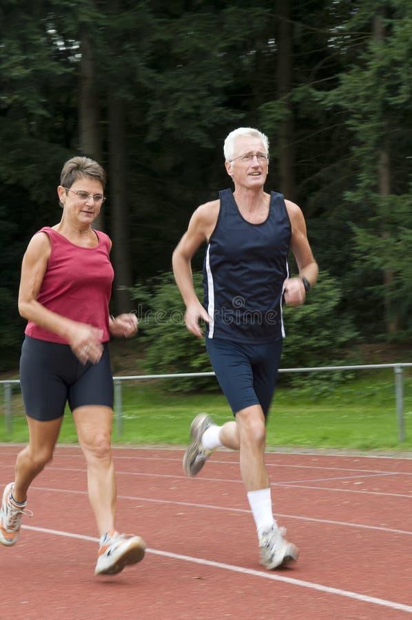 Running Seniors stock photography
