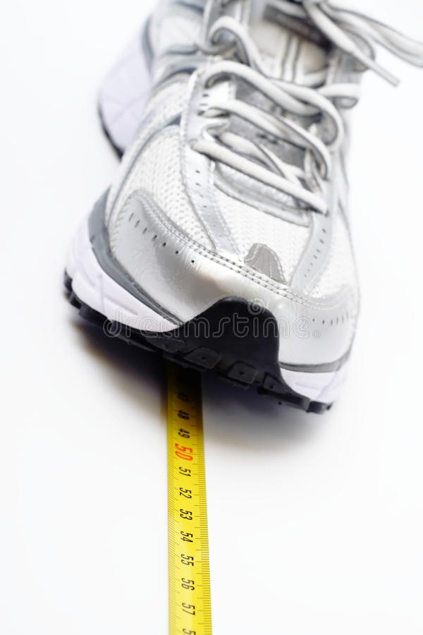 Running shoe fitness concept royalty free stock photo
