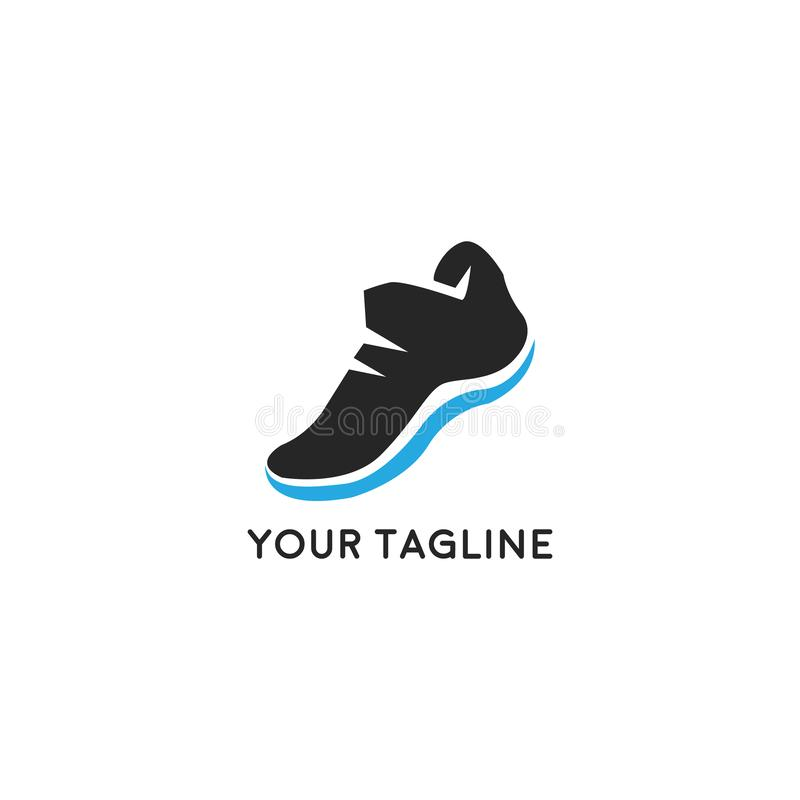 Running Shoe Icon. Sport colorful logo with sneakers royalty free illustration