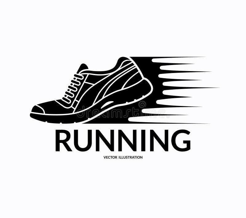 Running shoe icon. Vector illustration royalty free illustration