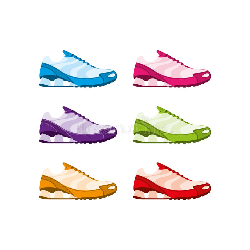 Running shoes royalty free illustration