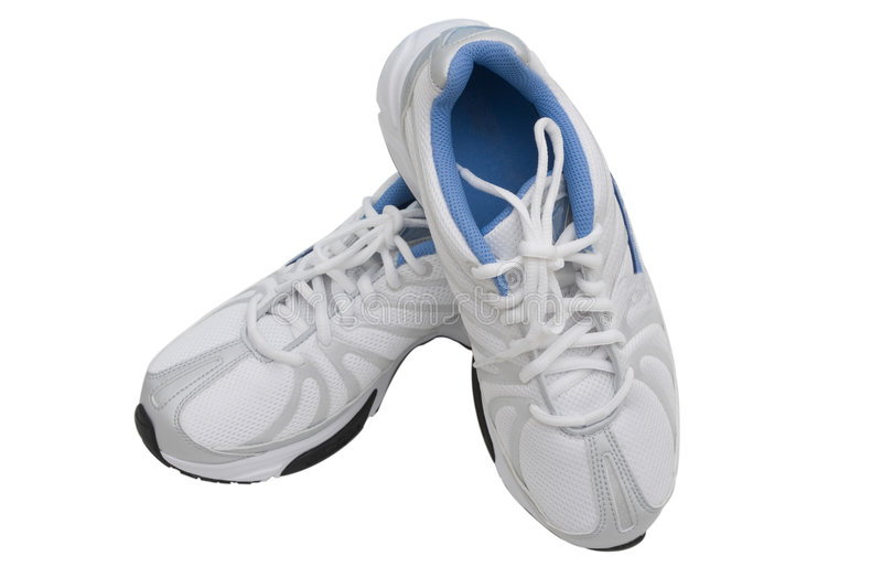 Running Shoes. Isolated on a white background royalty free stock image
