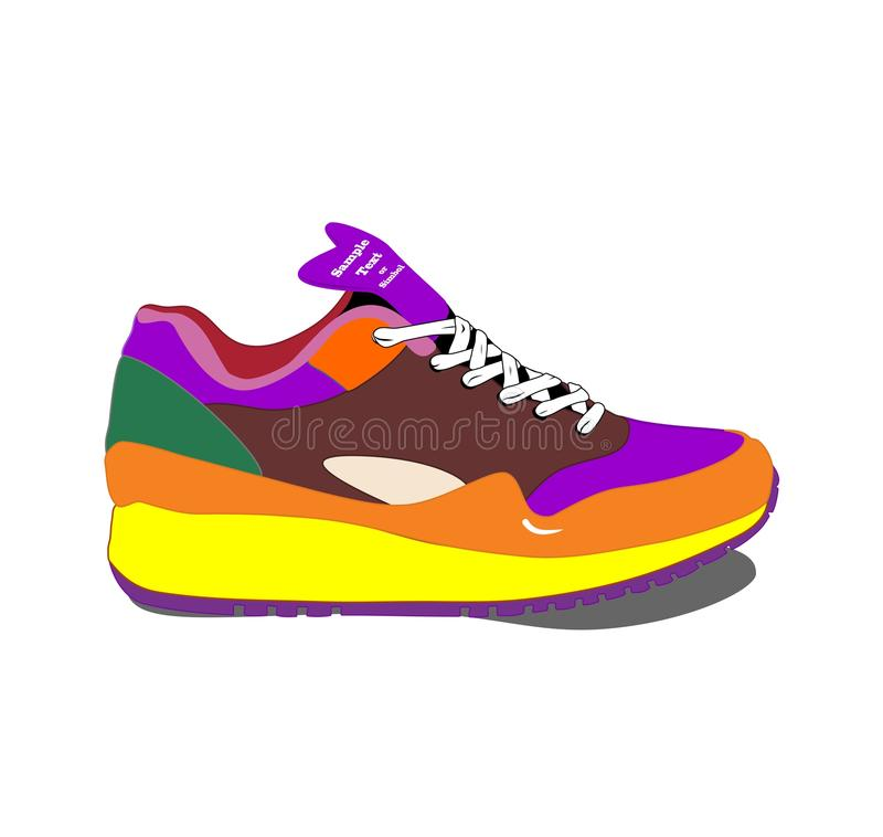 Running Shoes Stock Vector Illustration Of Retro Casual 39802876