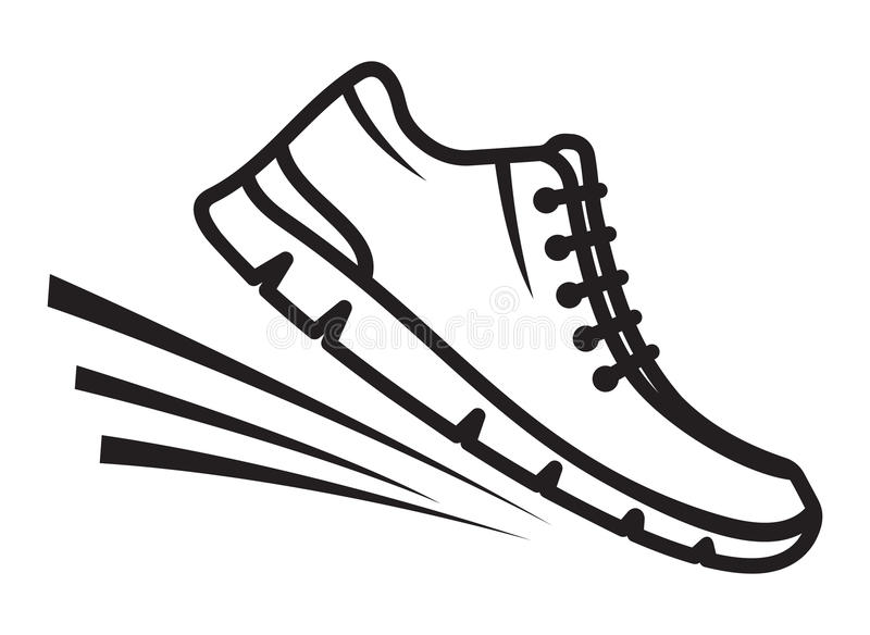 Running shoes icon. Vector illustration of the Running shoes icon stock illustration