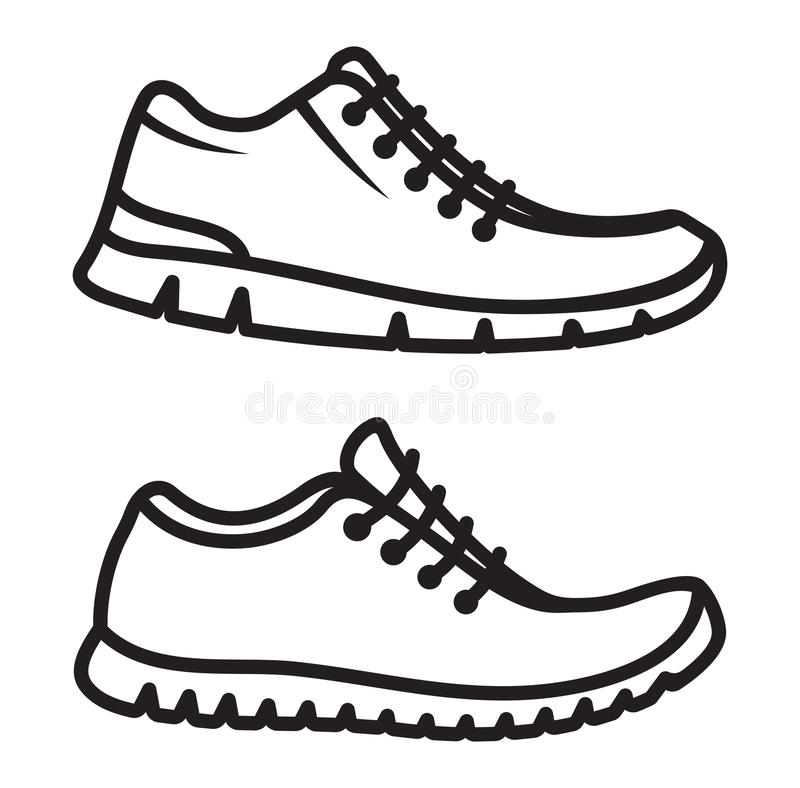 Running shoes icon stock illustration. Illustration of