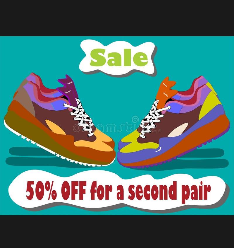 bd5657b34 ... Shoe Sale Banner: Running Shoes Stock Vector. Illustration Of Service