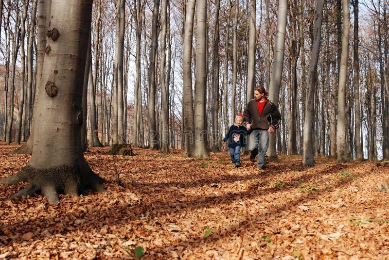 running son för fader fotografering för bildbyråer