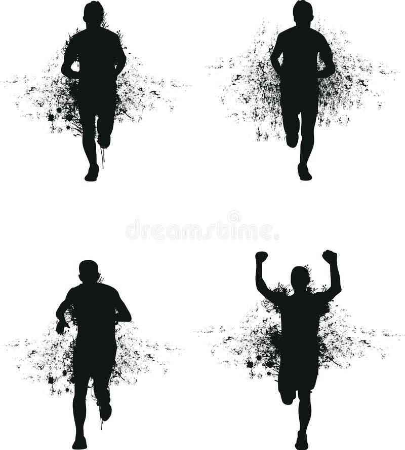 Download Running splash man stock vector. Image of black, finish - 27253390