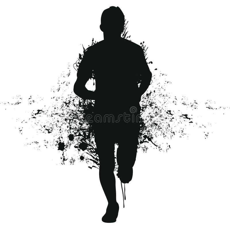 Download Running splash man stock vector. Image of adult, grunge - 27253432