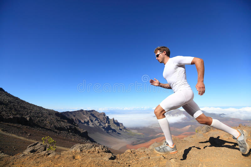 Running sport runner man royalty free stock photos