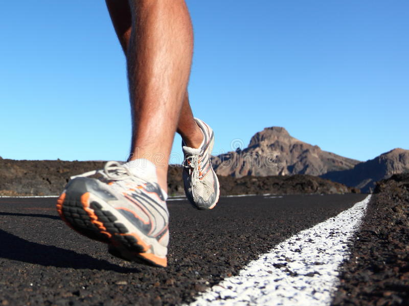 Running sport shoes royalty free stock images