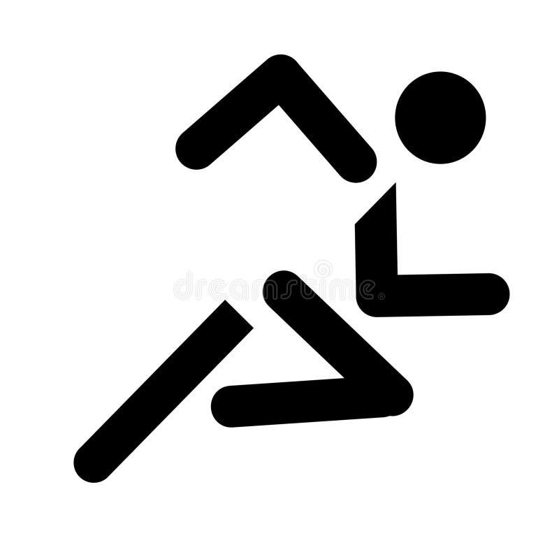 Running sport symbol. Running symbol isolated on white background stock illustration