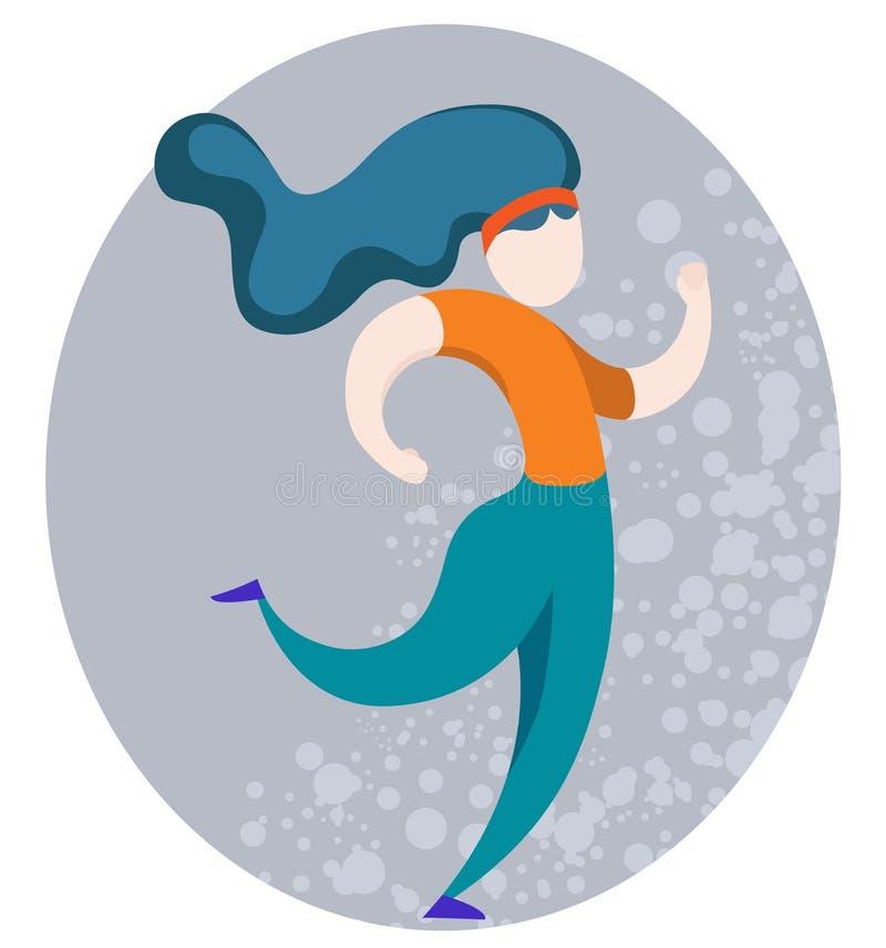 Running sports girl royalty free stock image