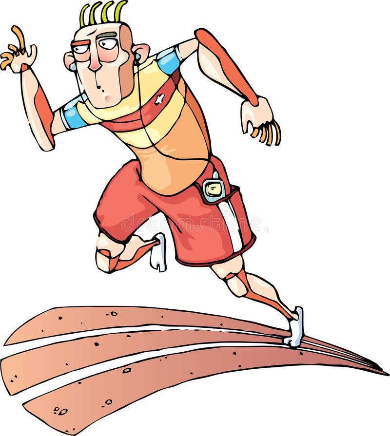 Running Sprinter royalty free stock image