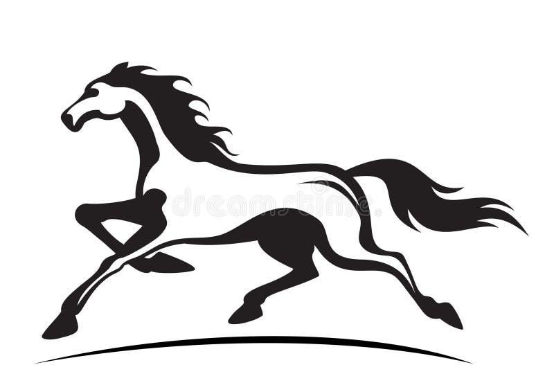 Running stallion. Vector illustration of young stallion running vector illustration