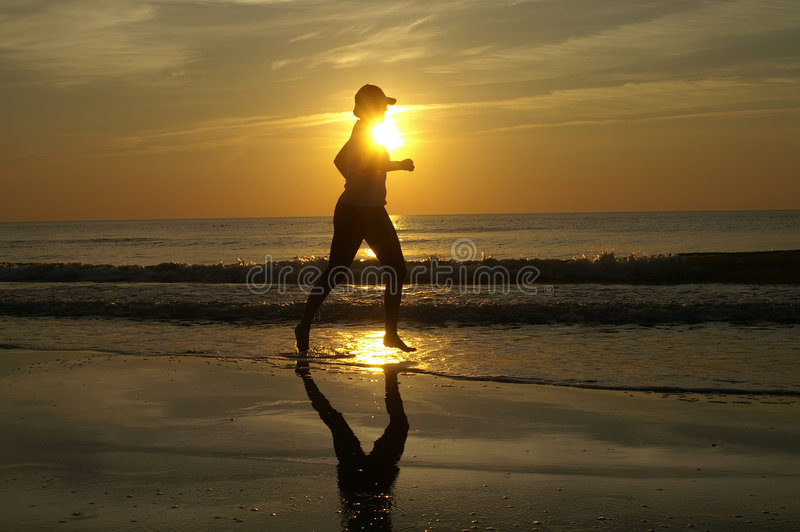 Running Sunset stock images