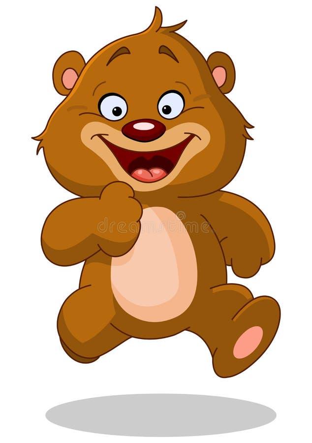 Running teddy bear royalty free illustration