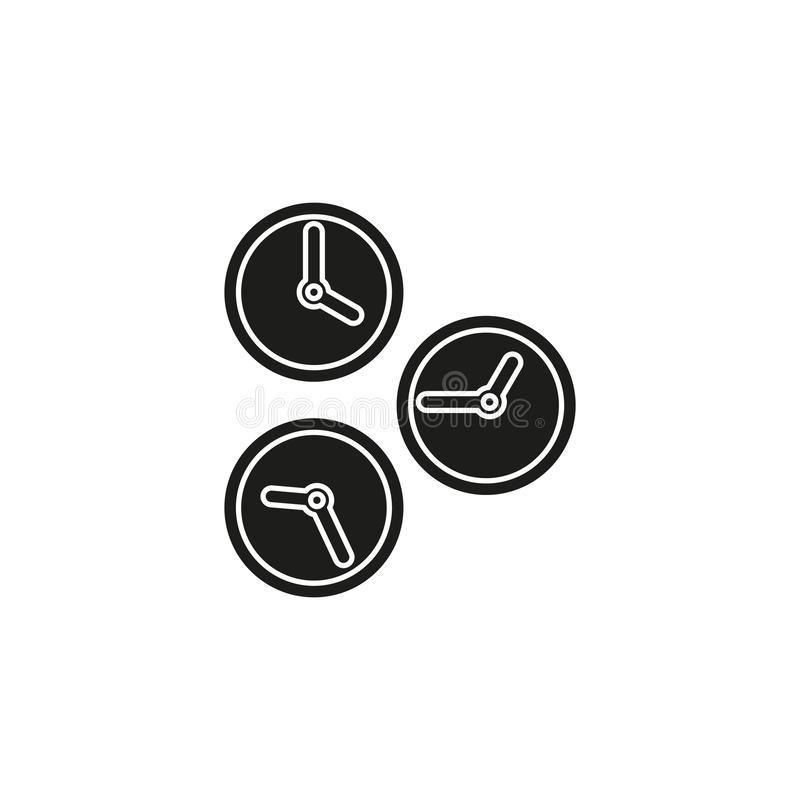 Running time illustration, speed symbol. stopwatch icon. Flat pictogram - simple icon royalty free illustration