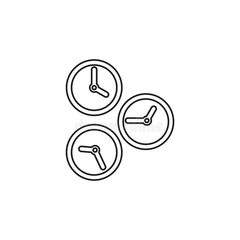 Running time, speed symbol. stopwatch icon. Running time illustration, speed symbol. stopwatch icon. Thin line pictogram - outline editable stroke stock illustration