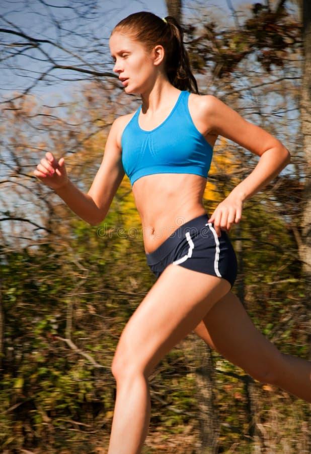 running tonåring för kvinnlig arkivbilder