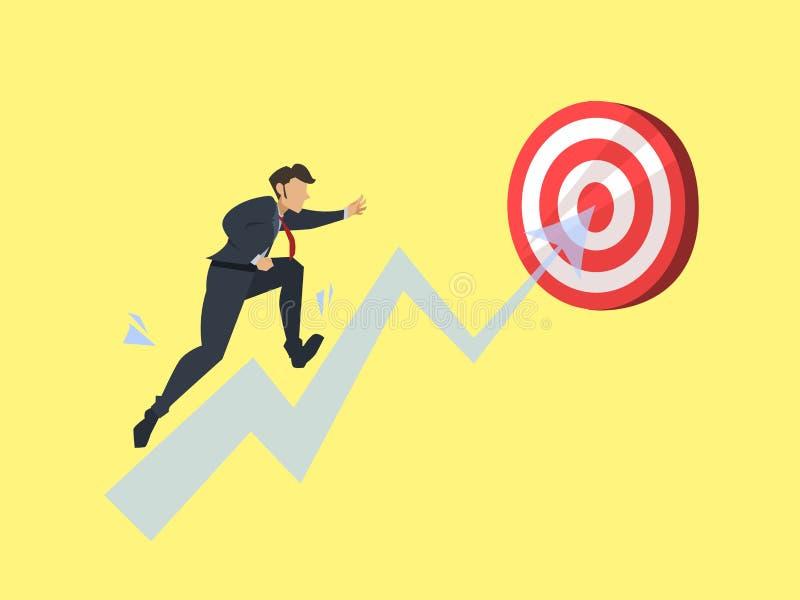 Running towards the goal to winner vector illustration