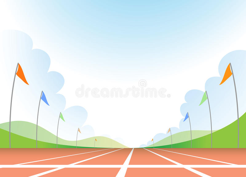 Running track royalty free illustration