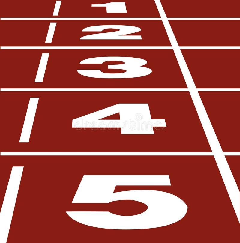 Running track vector illustration