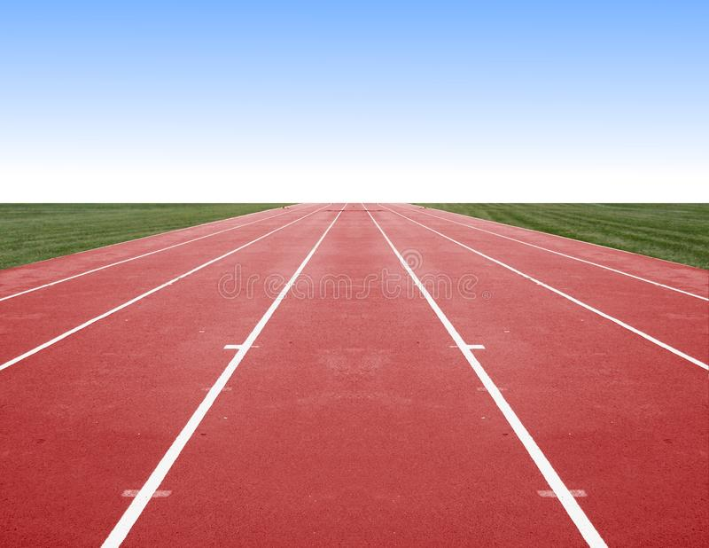 Running Track. Image of empty running Track with blue sky stock image