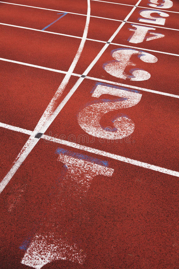 Running Track. With number close up royalty free stock images