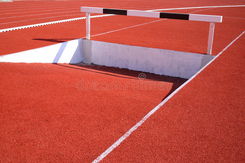 Download Running Track stock photo. Image of athletic, over, barrier - 28415006