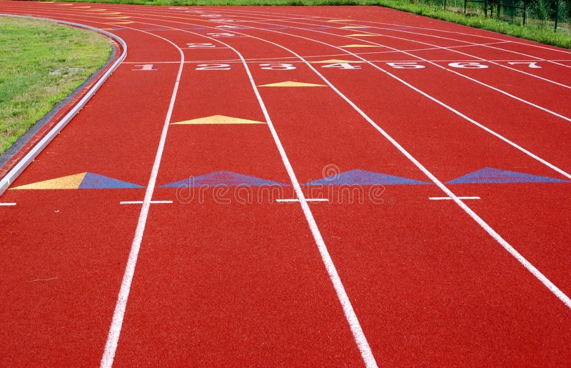 Running Track. royalty free stock photography