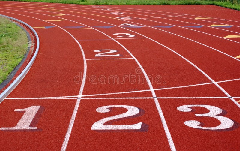 Running Track. royalty free stock images