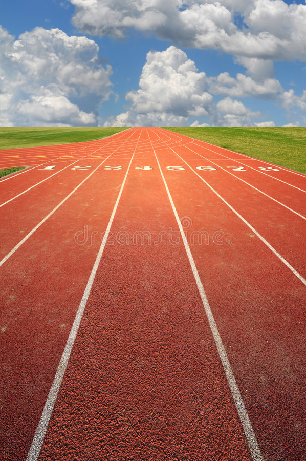 Free Running Track Royalty Free Stock Images - 7135259