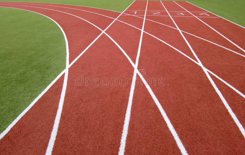 Download Running track stock image. Image of sports, green, track - 9035005