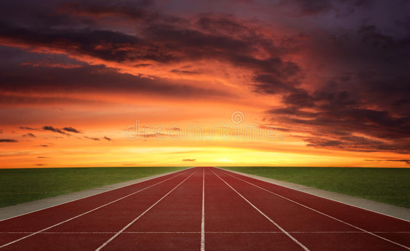 Running track stock photo. Image of recreational ...