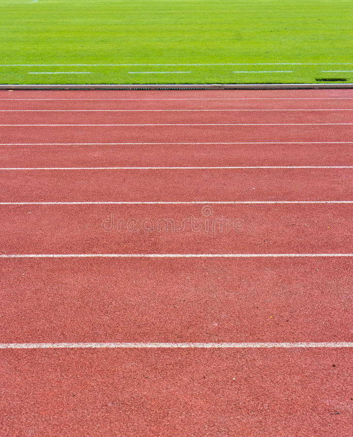 A running track and field. stock photos