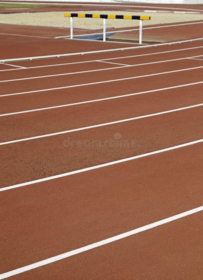Running track, jumping
