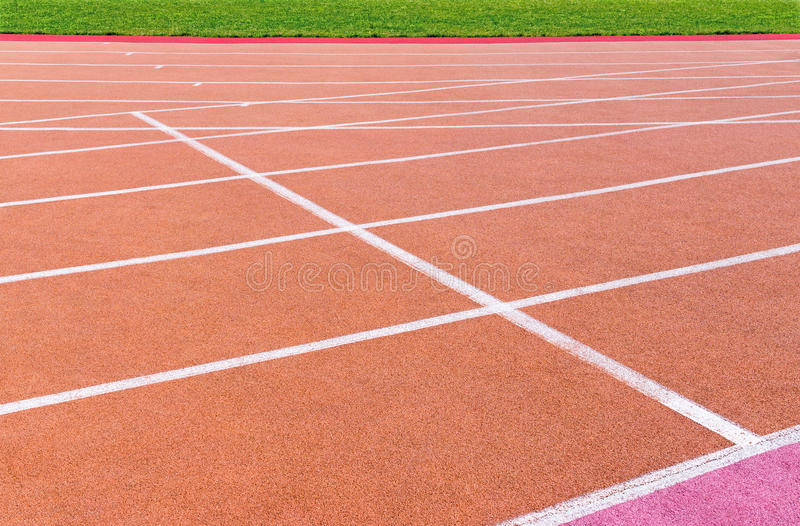 Running track with marking royalty free stock photography