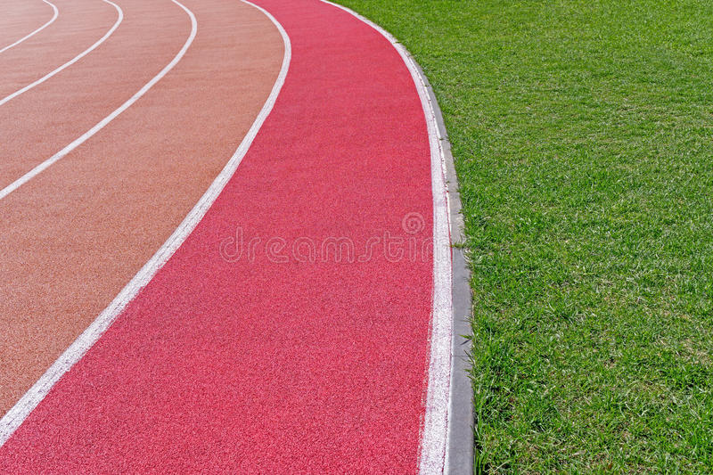 Running track with marking royalty free stock photos